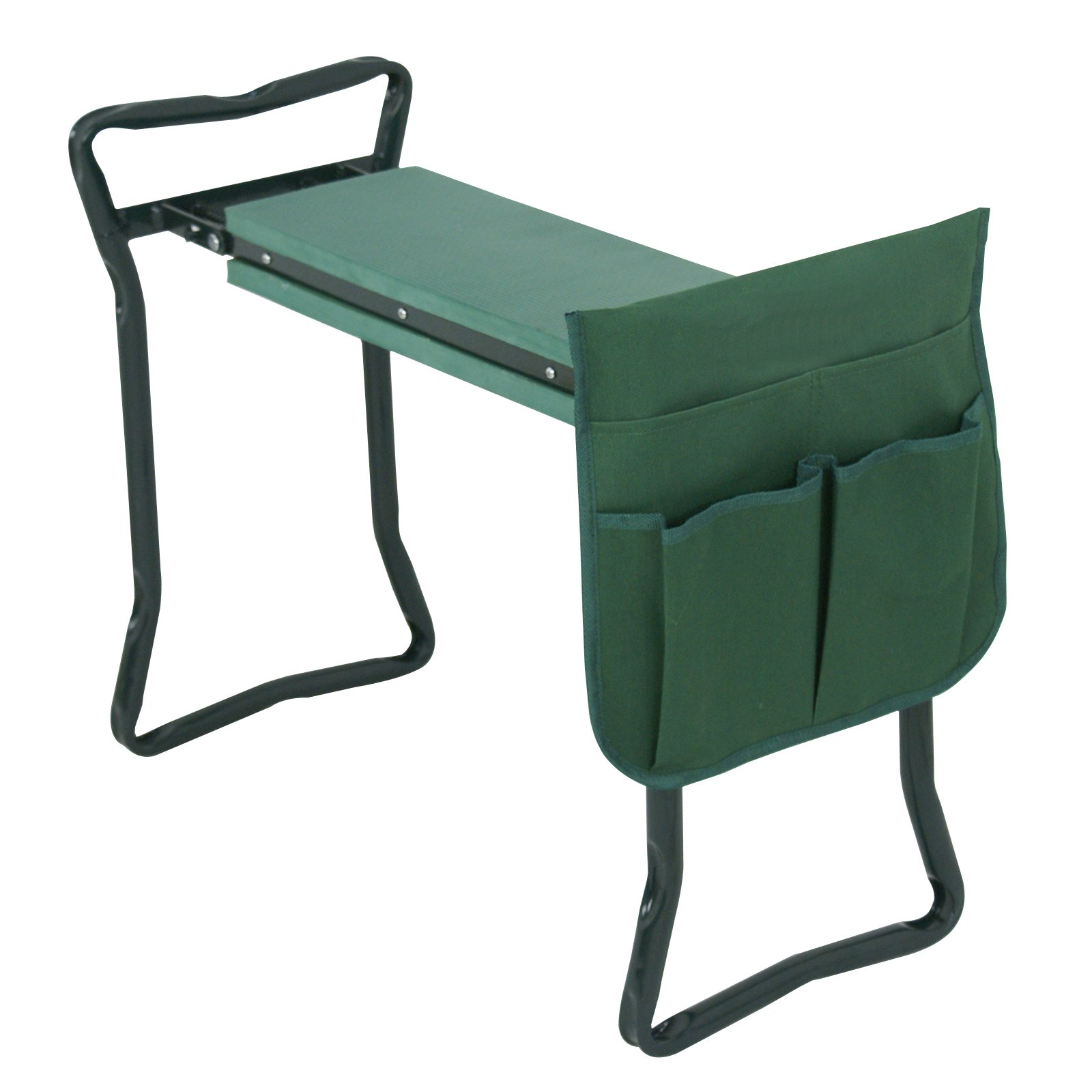 Nova Microdermabrasion Folding Garden Kneeler Seat Stool W/EVA Foam Pad and Tool Bag Pouch Portable Garden Bench Garden Stool Sturdy and Lightweight