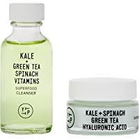 Youth To The People Superfood Duo Mini Clean Skincare Kit - Vegan Gel Foaming Green Tea Cleanser (1oz) with Kale…