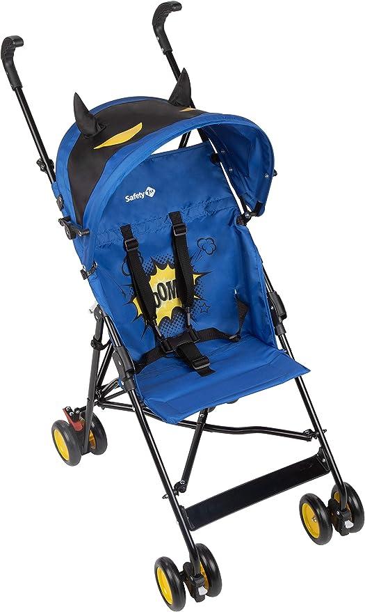 Opinión sobre Safety 1st Crazy Peps Silla Paseo ligera, capota con diseño divertito, Plegable y compacta, Pesa 4,6 kg, Super Hero Azul