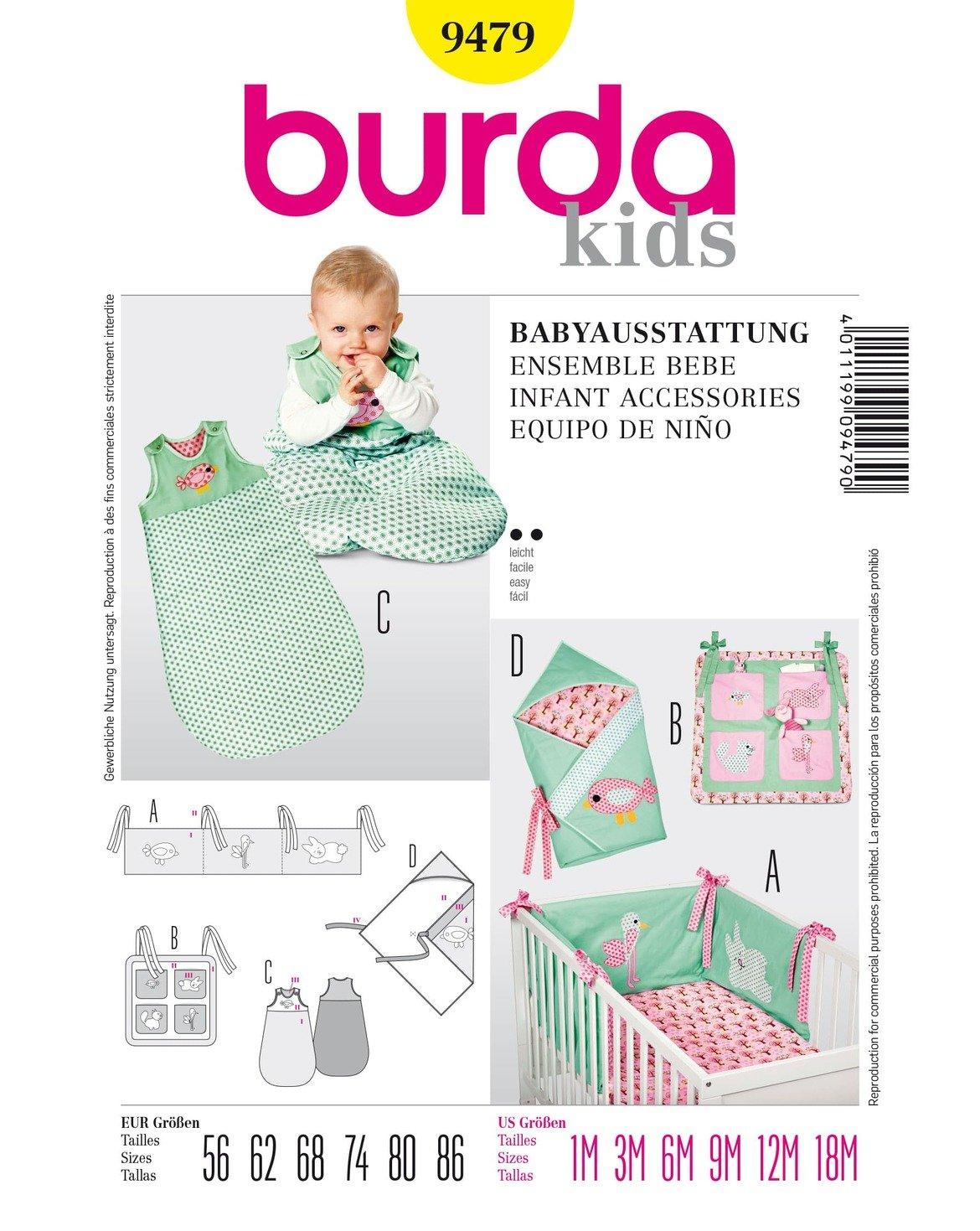 Burda Patrón 9479 Kids Conjunto bebé: Amazon.es: Hogar