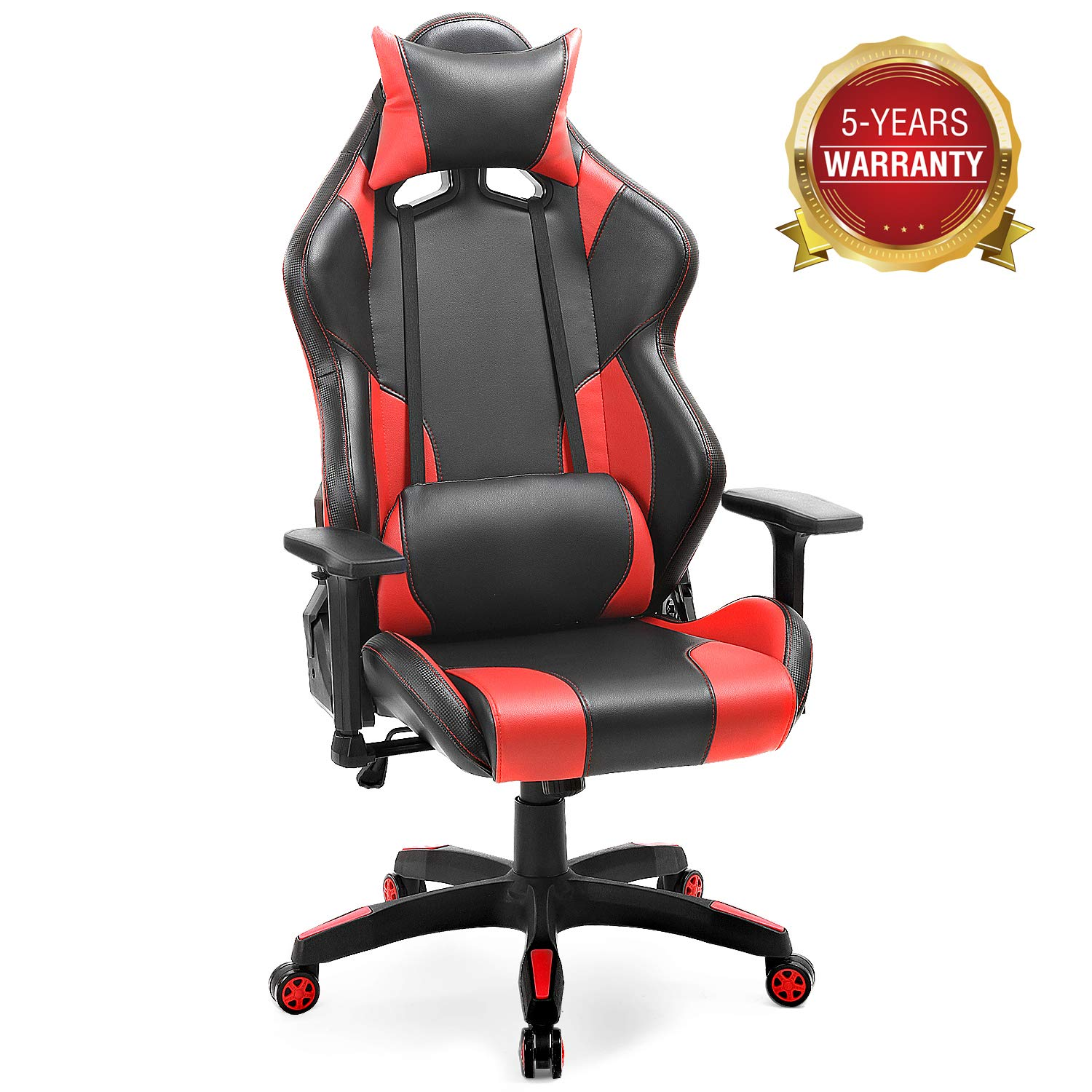 Computer Gaming Chair- Big and Tall Office Desk Chair with 3D Armrests and Adjustable Headrest, Ergonomic Swivel Drafting Task Chair with Lumbar Support,Hold Up to 400lbs