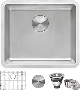 Ruvati 20-inch Undermount Bar Prep Kitchen Sink 16 Gauge Stainless Steel Single Bowl - RVM5020