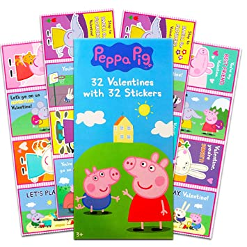 Amazon.com: Peppa Pig - Tarjetas de San Valentín con 32 ...