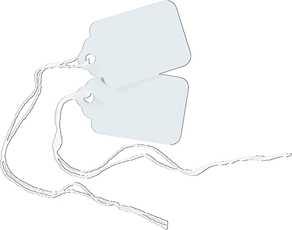 Pack of 100 Avery White Marking Tags 1.75 x 1.093 Inches 11062 Strung