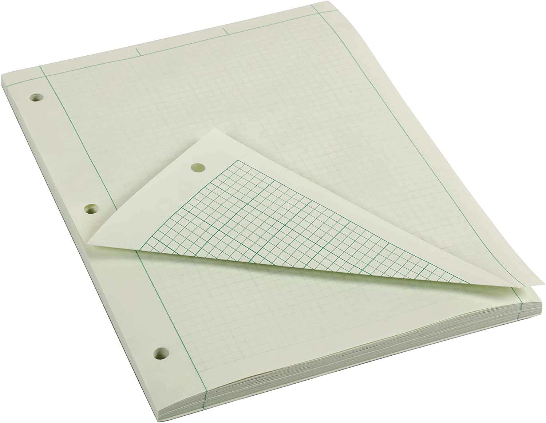 8.5 x 11 Quad//Margin Rule Basics Engineering Computation Pad 100 Sheets