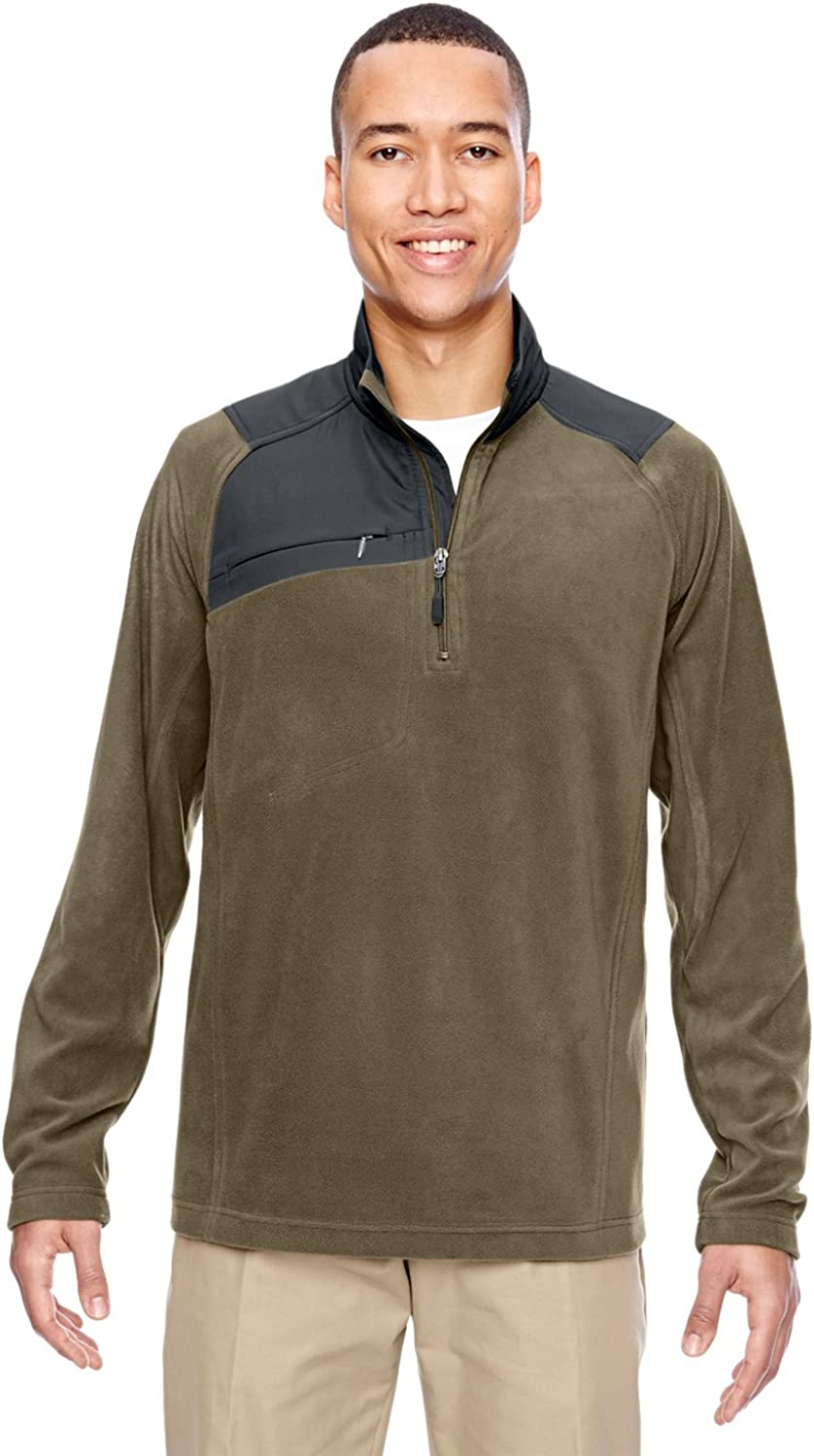 North End Mens Excursion Trail Fabric-Block Fleece Zip M -DK OAKMOSS 4 88217