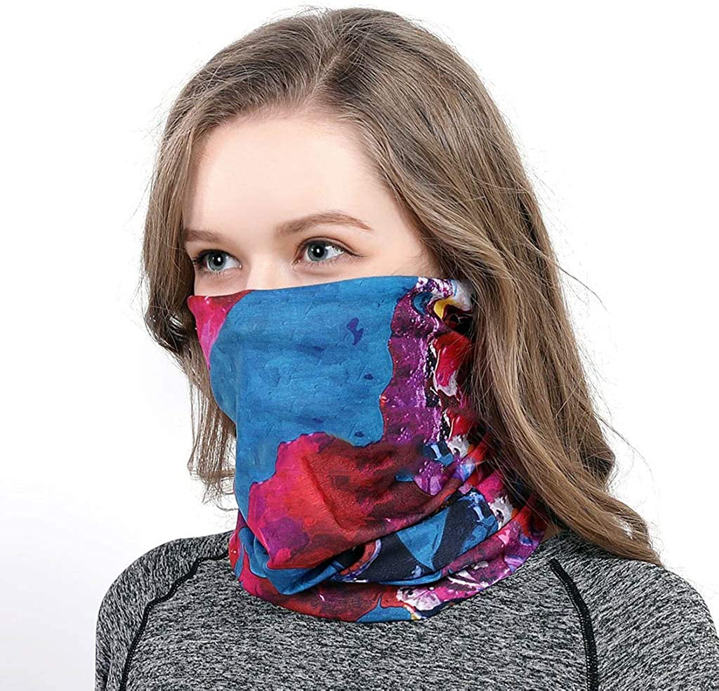 AMDOLE Mens and Womens UV Protection Face Scarf Motorbikes Work Scarf Cycling Multifunctional Face Shield for Hiking Wear Shield Neck Tube Mountaineering Snoods Scarves Hat