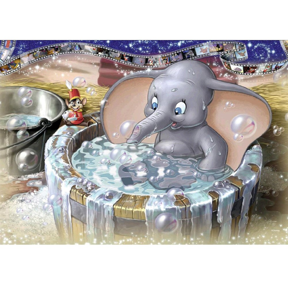 MXJSUA 5D Diamond Painting Full Drill Kits Adults Rhinestone Pasted Embroidery Cross Stitch Arts Craft Home Wall Decor 12x16inch Bathing Elephant