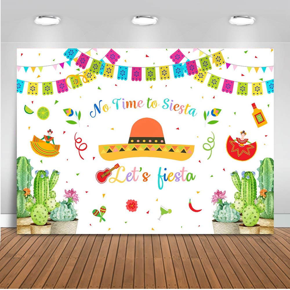 COMOPHOTO Let's Fiesta Backdrop for Photography Newborn Baby