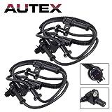 AUTEX 2PCS ABS Wheel Speed Sensor Front Left
