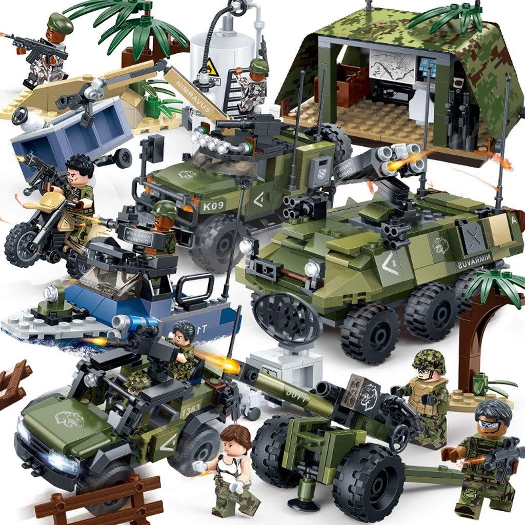 GYAN Militär-Baustein-Behälter-Modell stellte pädagogische Spielwaren der 6-10 Jahre Alten Kinder zusammen