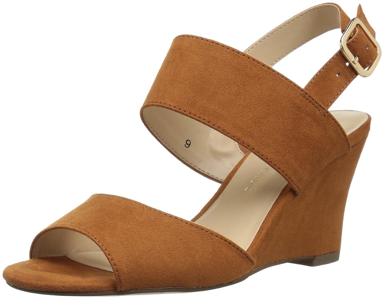 Athena Alexander Women's Slayte Wedge Sandal B075RHC4M9 6 B(M) US|Tan/Suede