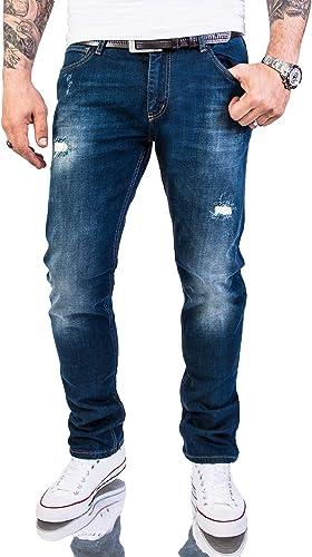 Rock Creek M46 - Pantalones vaqueros para hombre Azul océano oscuro. 31W x 32L