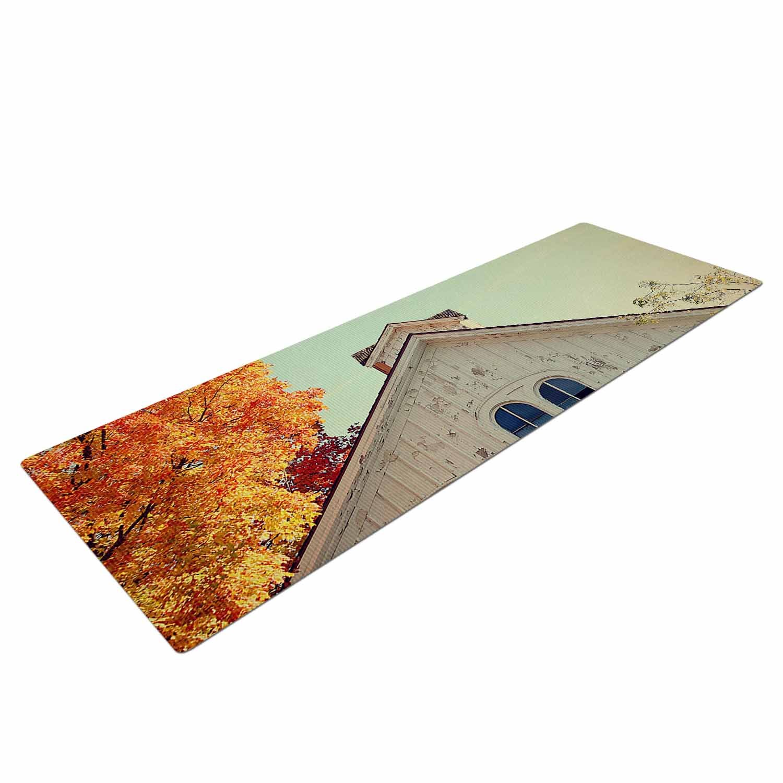 72 X 24 72 X 24 KESS Global Inc AT1042AYM01 KESS InHouse Angie Turner Fall Barn Top Orange Photgraphy Yoga Mat