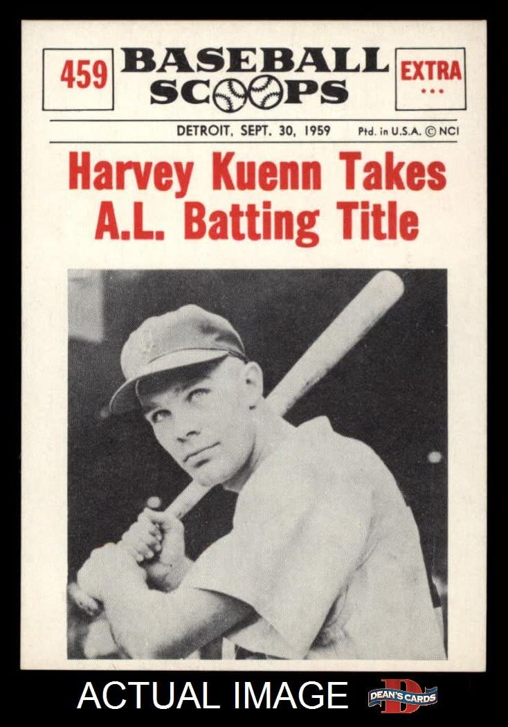 1961 Nu-Card Scoops # 459 Takes Al Batting Title Harvey Kuenn Detroit Tigers (Baseball Card) Dean'S Cards 7 - Nm Tigers
