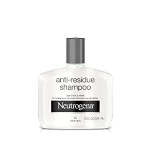 Neutrogena Anti-Residue Clarifying Shampoo, Gentle Non-Irritating Clarifying Shampoo to Remove Hair Build-Up & Residue, 12 fl. oz