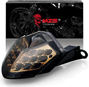 MZS LED Integrated Tail Light Turn Signal Blinker Smoke Compatible with Kawasaki Z750 2007-2012 | Z1000 2007-2009 | ZX6R ZX600 2009-2012 | ZX10R 2008-2010
