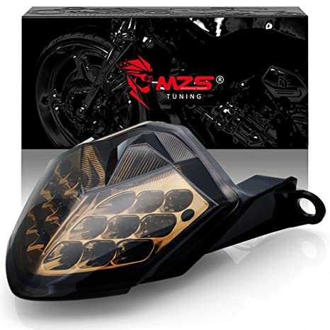 Amazon.com: MZS LED Integrated Tail Light Turn Signal Blinker for Kawasaki Z750 2007-2012/ Z1000 2007-2009/ ZX6R ZX600 2009-2012/ ZX10R 2008-2010 Smoke: ...