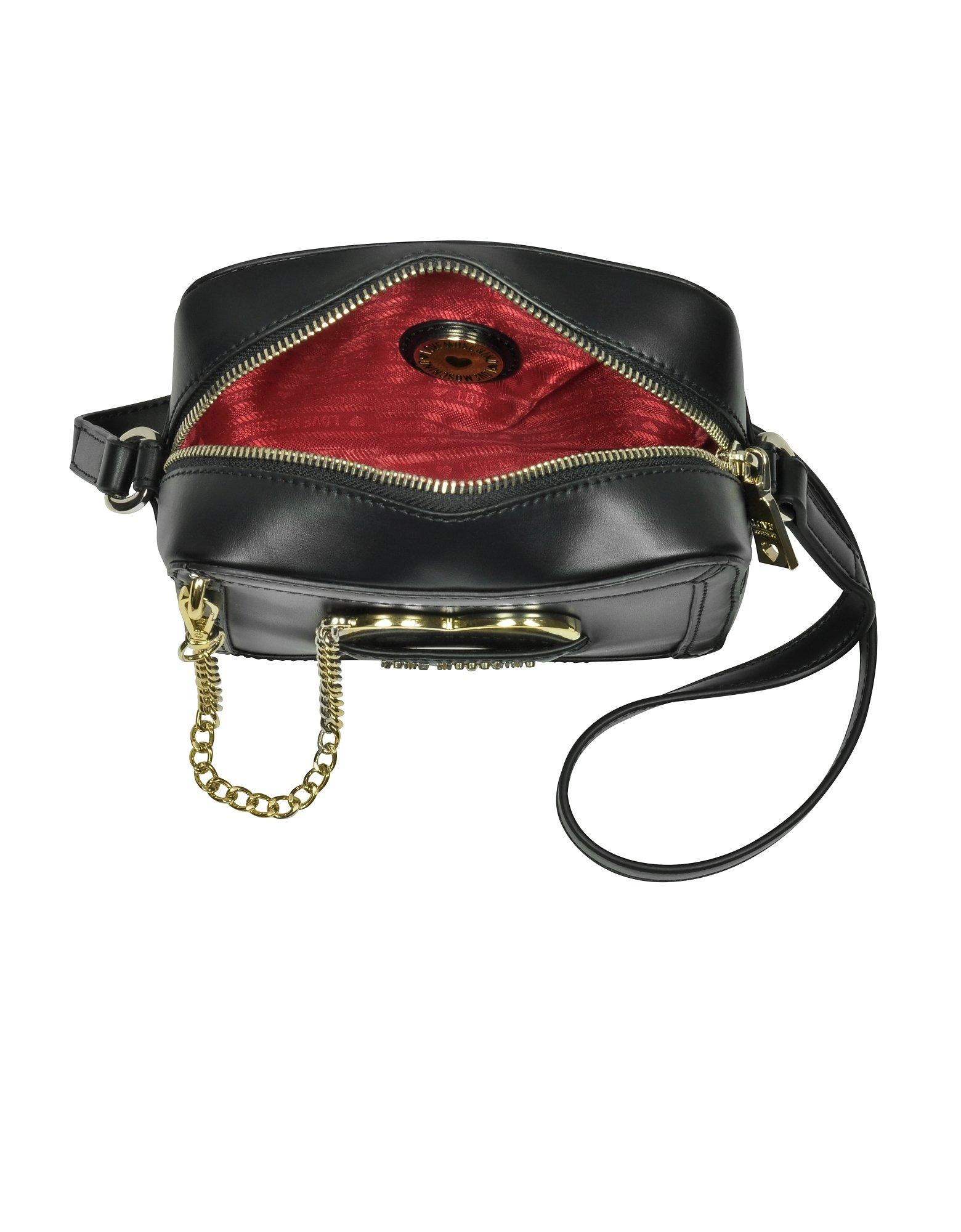 Love Moschino Women's Jc4078pp15li0000 Black Leather Shoulder Bag by Love Moschino (Image #3)