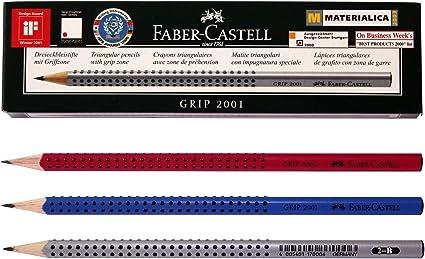 Faber Castell Eco lápiz Grip 2001 – 3 color cuerpo (Pack de 12): Amazon.es: Oficina y papelería