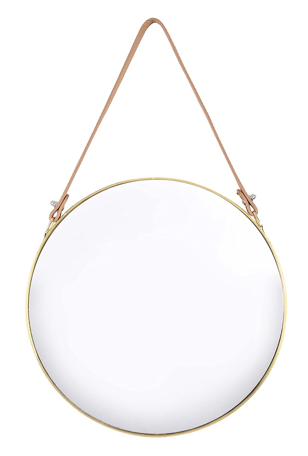 Home Selections Metal Framed Round Hanging Mirror - Gold - 30 x 30cm Innova Editions