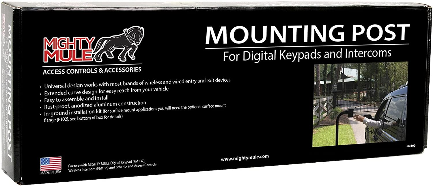 MIGHTY MULE FM100 MOUNTING POST AUTOMATIC GATE OPENER