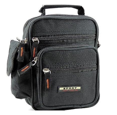 l'ultimo f0357 aef1d Borsello tracolla uomo 3 tasche modello ECONOMICO borsa uomo a tracolla  multitasche colore NERO