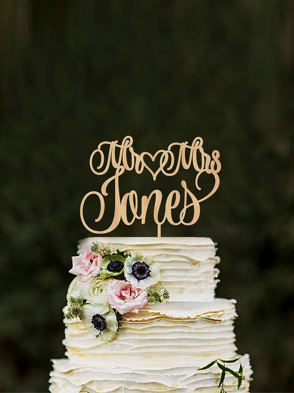 Personalized Wood Topper Wedding Topper Topper For Wedding Mr and Mrs Topper Wood Cake Topper Bride Groom Topper Custom Cake Topper