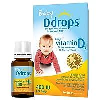 Ddrops Baby Liquid Vitamin D3 400 IU 2.50 mL (90 drops) (Pack of 10)