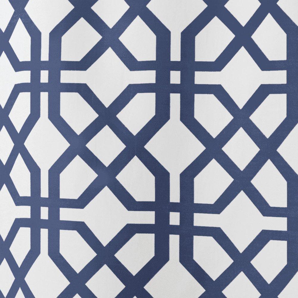 Stall 54 x 78 InterDesign Trellis Fabric Shower Curtain Stone Gray//White