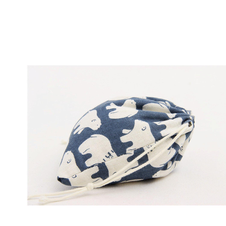 Travel Home Accessories Amoyie 4 pcs Drawstring Storage Bag Set for Baby Stuff Blue Bear