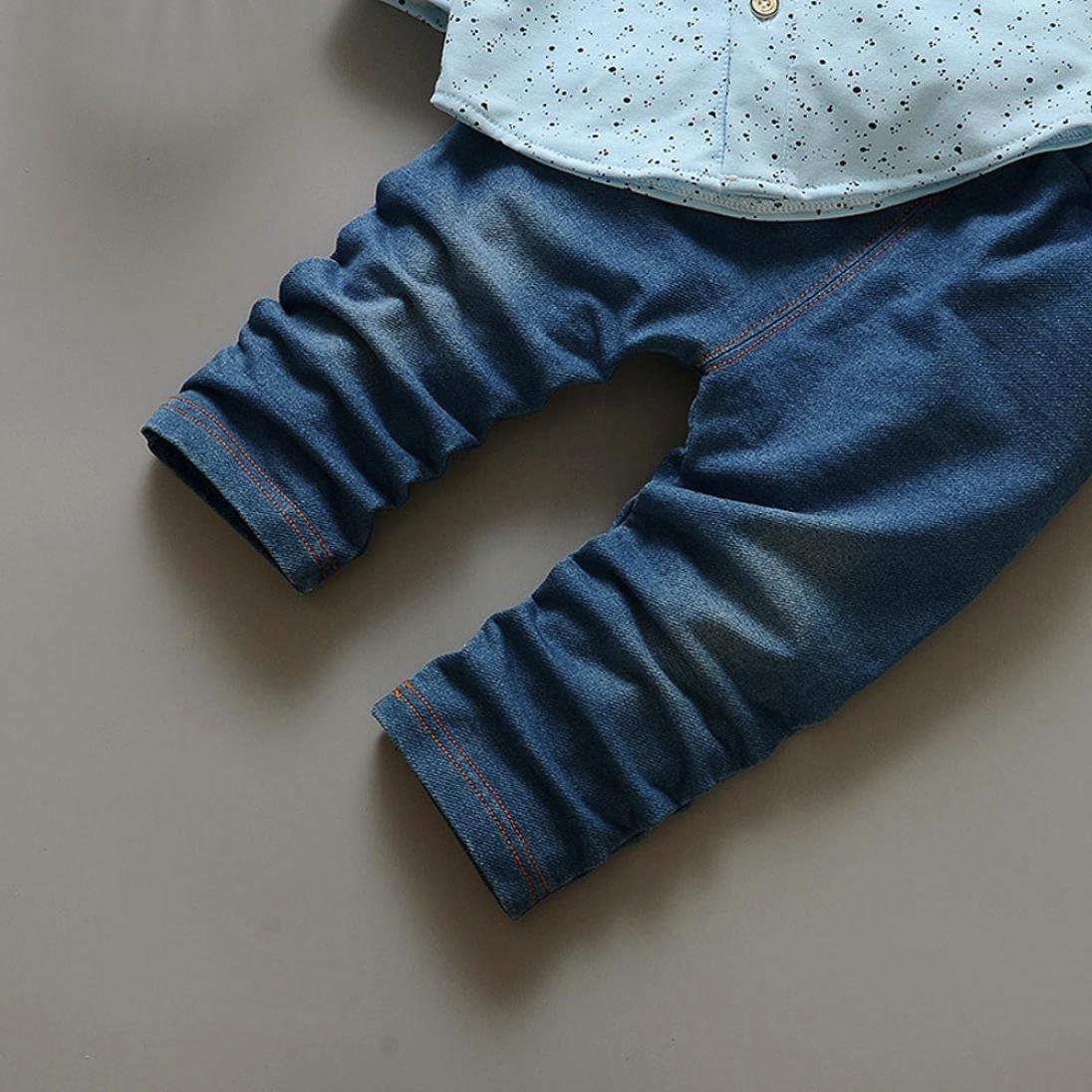 Beb/é ni/ños peque/ño de impresi/ón Tops Pantalones Ropa Conjuntos 0-24 Mes Mono Beb/é