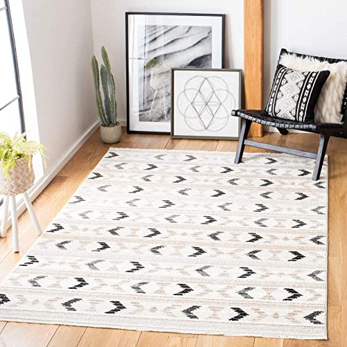 Safavieh Sedona Collection SED804A Boho Tribal Area Rug, 5 3 x 7 9 , Ivory Grey
