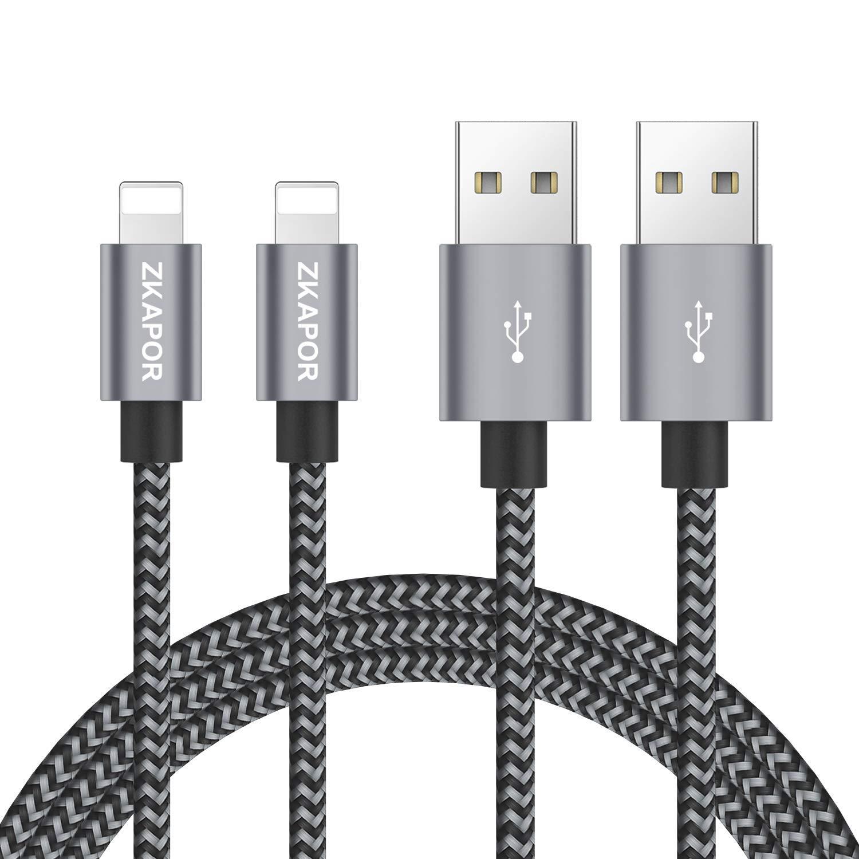 Cable Phone, ZKAPOR [2Pack, 3m] Cable Cargador de Nylon ...