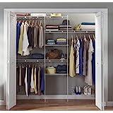 ClosetMaid 1608 Closet Organizer Kit with Shoe Shelf, 5-Foot to 8-Foot, White