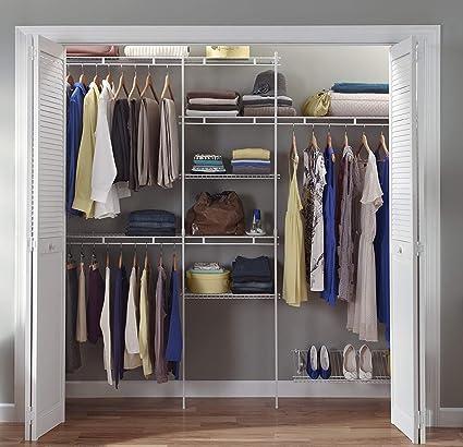 Amazon Com Closetmaid 1608 Closet Organizer Kit With Shoe Shelf 5