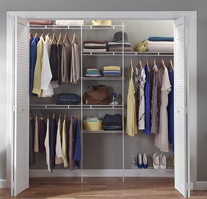 Amazon.com: ClosetMaid 1608 Kit organizador de armario con ...