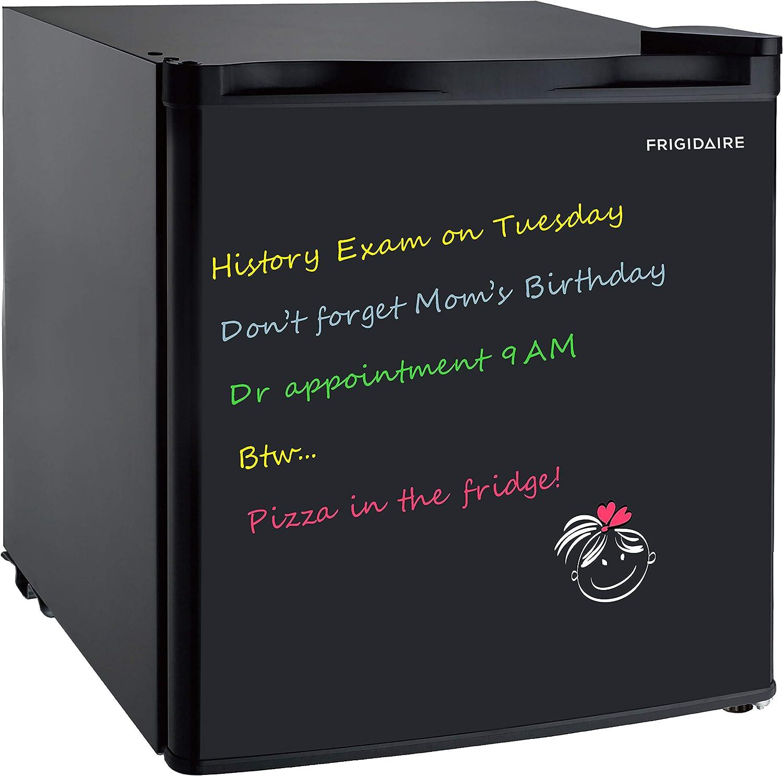 Frigidaire EFR107-BLACK 1.6 Cu Ft Compact Fridge with Dry Erase Board, Black