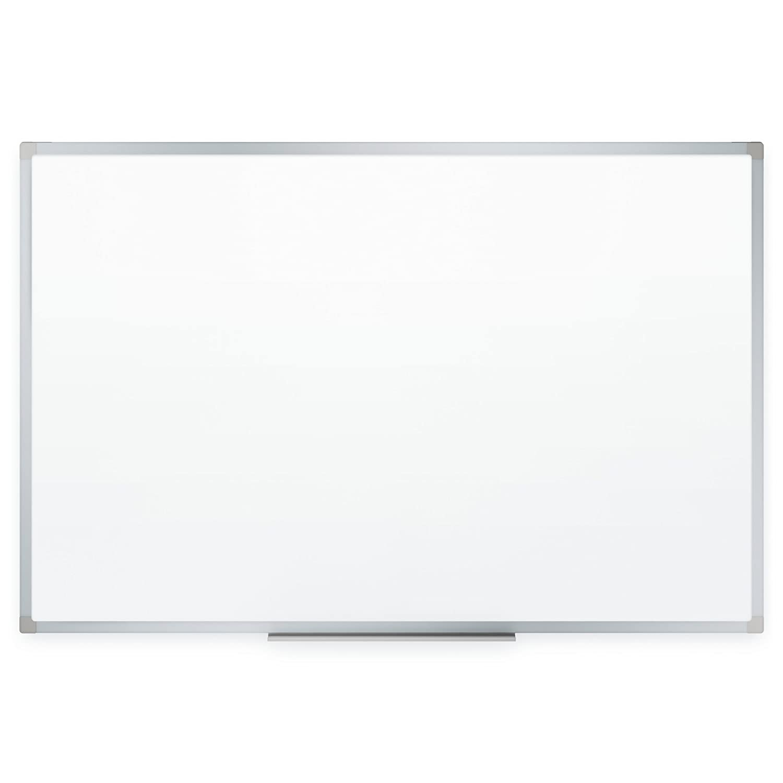 "Mead Dry Erase Board, Whiteboard / White Board, 24"" x 18"", Silver Finish Aluminum Frame (85355)"
