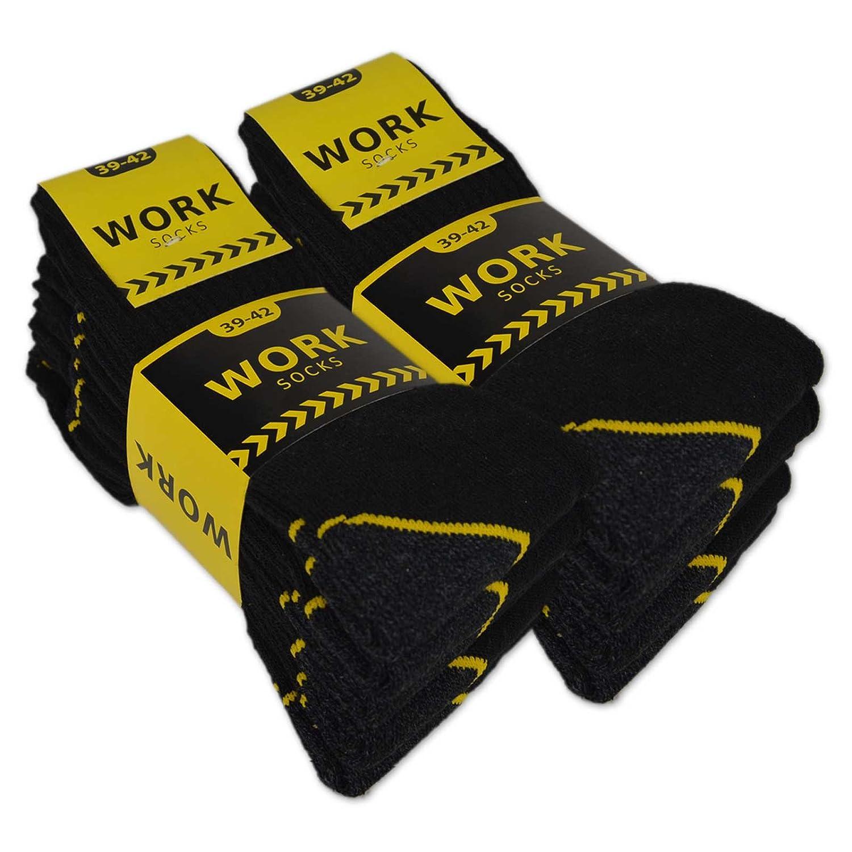 sockenkauf24 10 oder 20 Paar Herren Arbeitssocken Baumwolle WORK