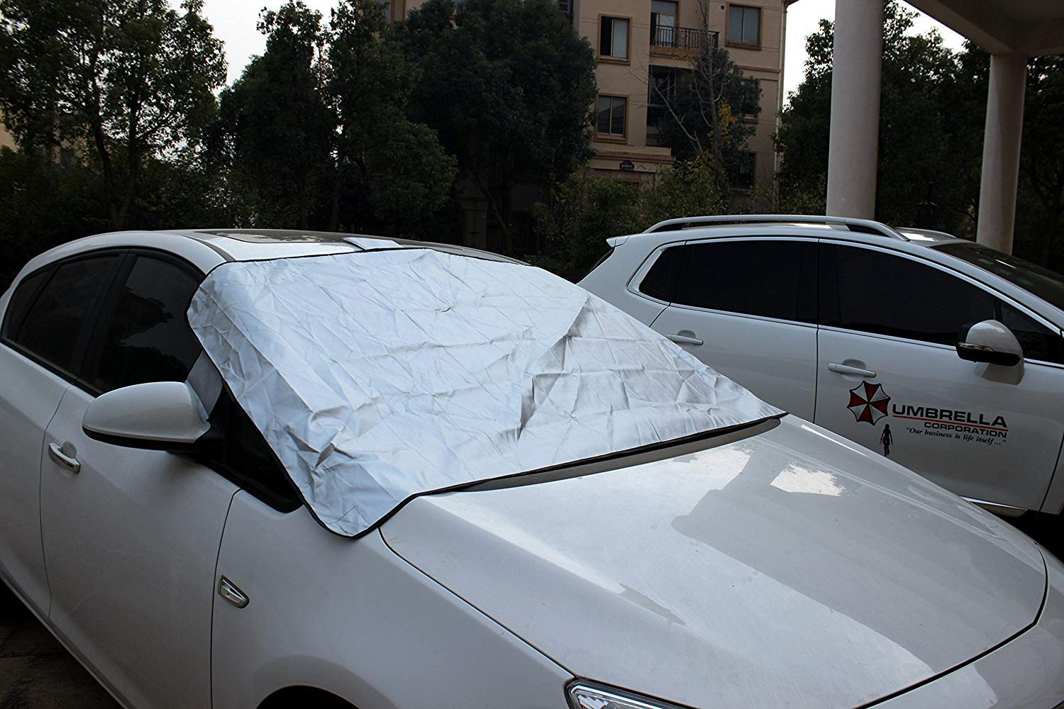 imUfer Universal Front Windscreen Cover Magnetic Anti Sun Snow Dust Rain Frost All Weathers Protect from Sun Snow Dust Rain Frost in All Weather