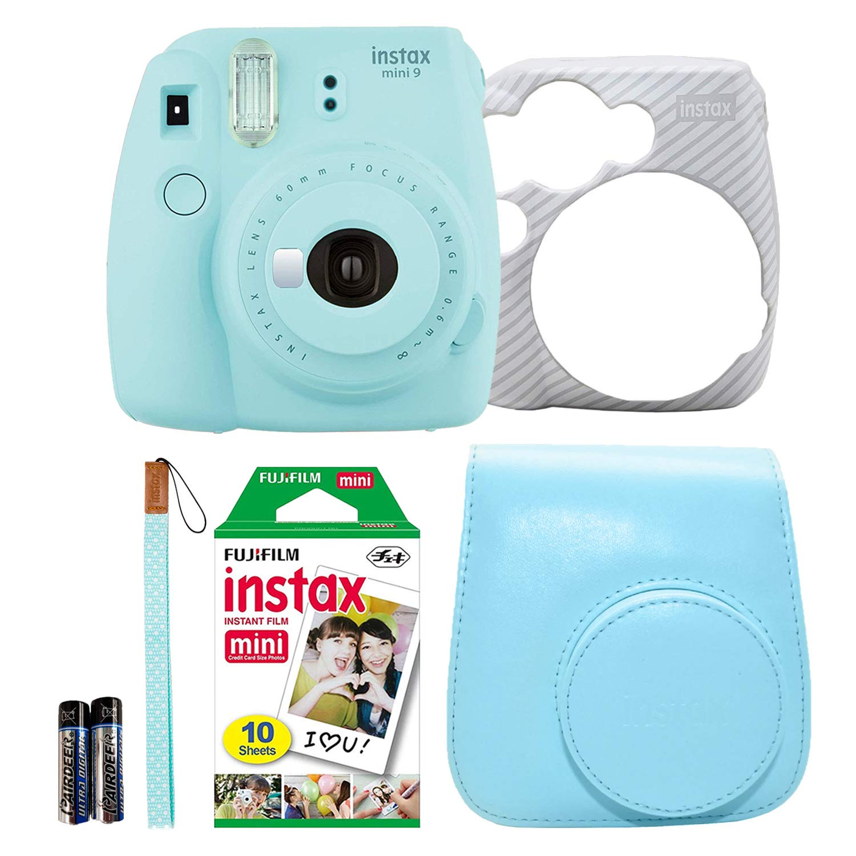 Ice Blue Fujifilm Instax Mini 9 Instant Film Camera Holiday Bundle