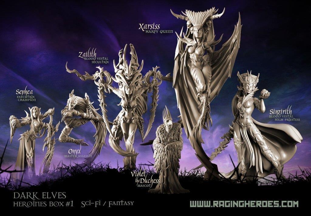 Dark Elves Heroines Box #1