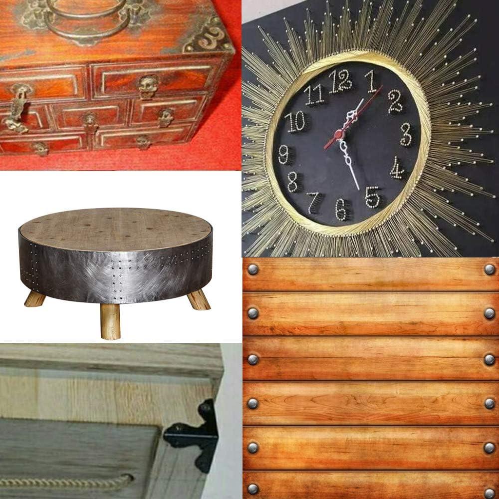 DAZISEN Kleine Holzn/ägel 1800pcs Kleine N/ägel Holzschrauben Kompakte Antike DIY Dekorative Box Zubeh/ör Mini N/ägel Bronze