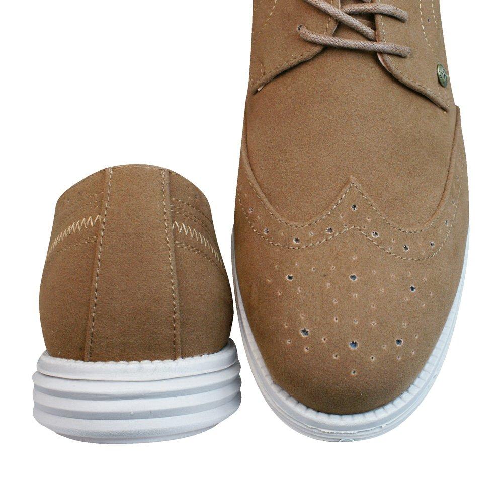 Firetrap Bud Ata para arriba Brogues / zapatos de los hombres-BROWN-45 oKR5H
