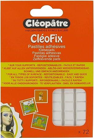 Cleopatre- CP96 - Cleofix - Pack de 72 pastillas adhesivas reposicionables: Amazon.es: Oficina y papelería