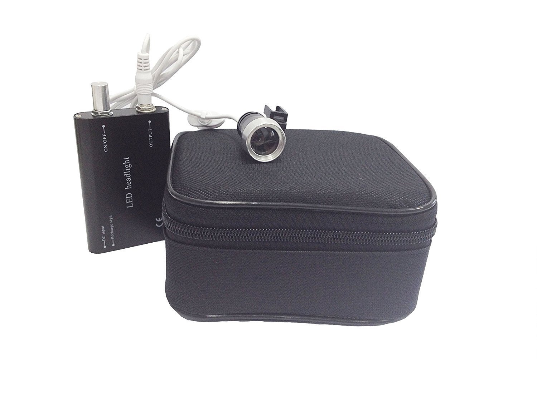 Zgood Portable 3W Dental LED Headlight Head Light Lamp for Surgical Loupes Glasses US Stock (Black)