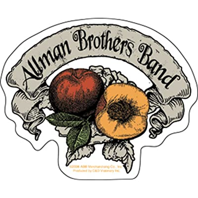 The Allman Brothers - Peach Banner Sticker: Toys & Games