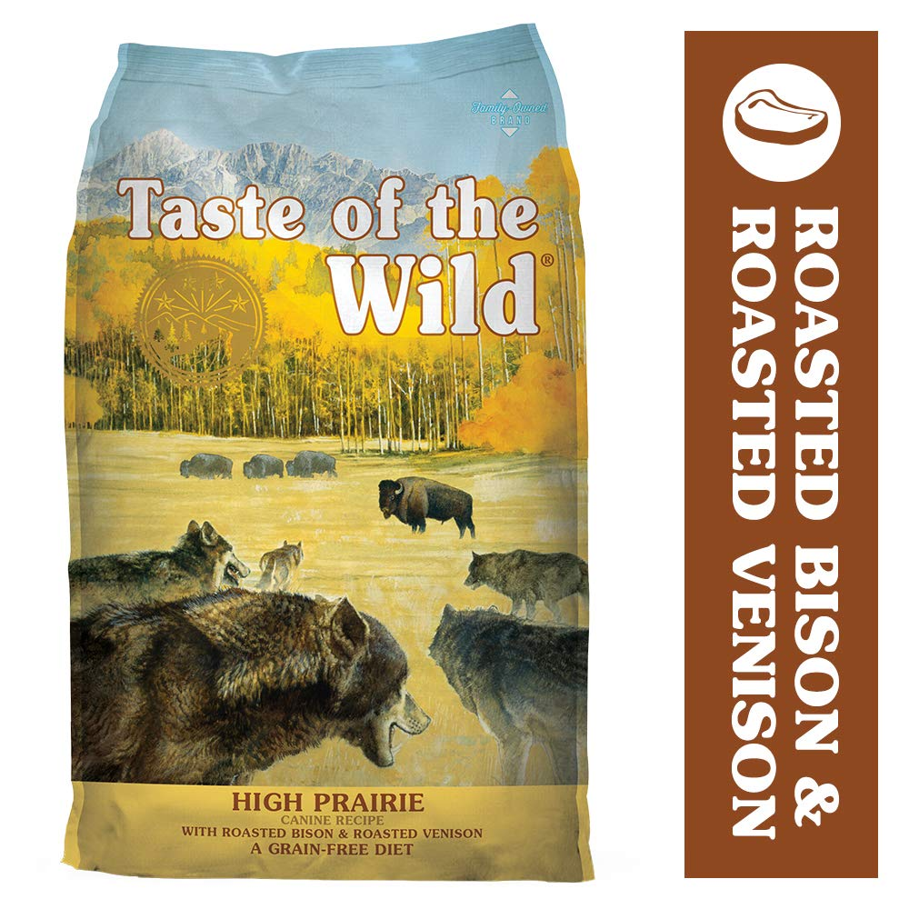Taste of the Wild Grain Free High Protein Real Meat Recipe High Prairie Premium Dry Dog Food, 28 lb by Taste of the Wild