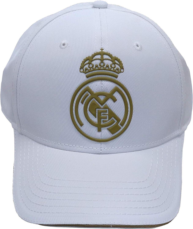 Real Madrid FC RM3GO19 Verstellbare Kappe Real Madrid wei/ß//Gold -2019-2020 Unisex Wei/ß//Gold Erwachsene